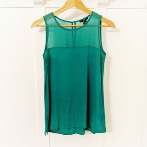 H&M EUC Kelly Green Sleeveless Blouse